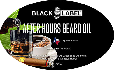 After Hours Beard Oil, Best Beard Conditioner - Blacklabel Beard Company