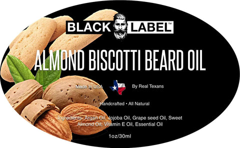 Image of Almond Biscotti Best Beard Oil & Beard Conditioner - Blacklabel Beard Company