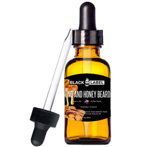 Almond & Honey Best Beard Oil, Beard Conditioner & Beard Softener - Blacklabel Beard Company