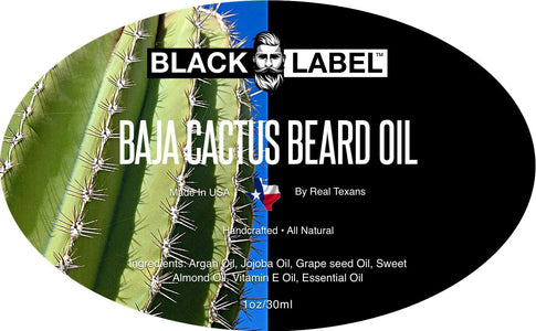 Baja Cactus Beard Oil, Best Beard Conditioner & Beard Softener - Blacklabel Beard Company