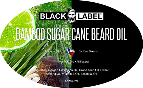 Image of Bamboo & Sugar Cane Best Beard Oil & Beard Conditioner - Blacklabel Beard Company