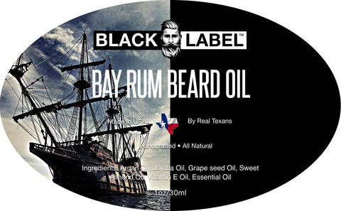 Bay Rum Beard Oil - Blacklabel Beard Company