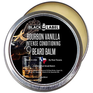 Bourbon Vanilla Beard Balm, Best Beard Conditioner & Styling Pomade - Blacklabel Beard Company