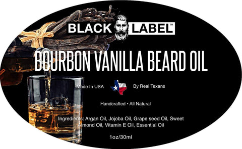 Bourbon Vanilla Beard Oil, Best Beard Conditioner & Beard Softener - Blacklabel Beard Company