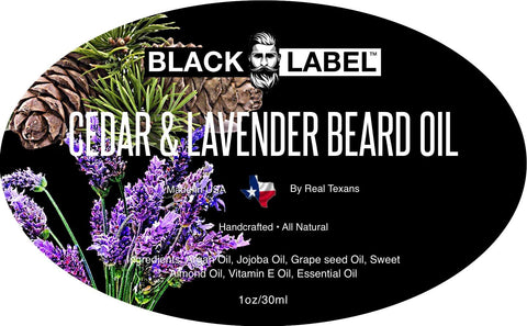 Image of Cedar & Lavender Beard Oil, Best Beard Conditioner & Beard Softener - Blacklabel Beard Company