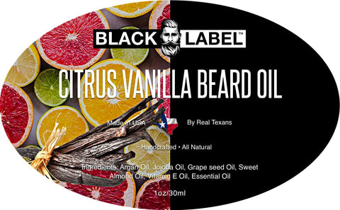 Image of Citrus Vanilla Beard Oil Best Beard Conditioner Beard Softener - Blacklabel Beard Company