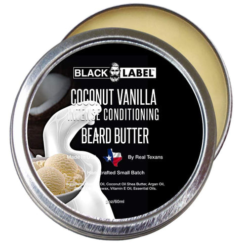Image of Coconut Vanilla Beard Butter, Best Beard Conditioner & Beard Softener - Blacklabel Beard Company