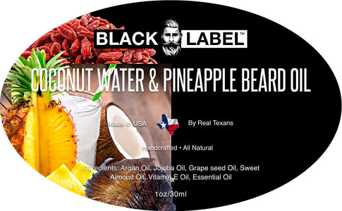 Coconut Water and Pineapple Best Beard Oil & Beard Conditioner - Blacklabel Beard Company