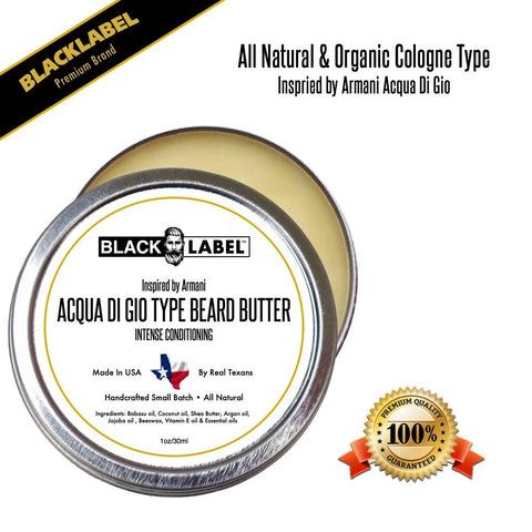 Image of Compare to Aqua Di Gio | Cologne Type Beard Butter - Blacklabel Beard Company