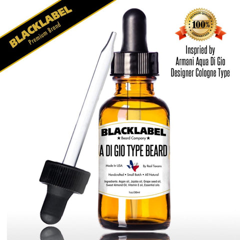 Aqua Di Gio Beard Oil | Cologne Type Beard Oil & Softener | Beard Care