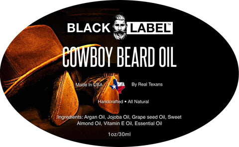 Image of Cowboy Beard Oil - Blacklabel Beard Company