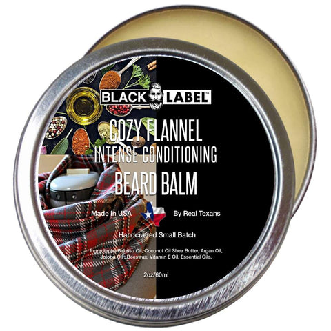 Image of Cozy Flannel Beard Balm, Best Beard Conditioner & Styling Pomade - Blacklabel Beard Company