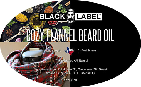 Image of Cozy Flannel Beard Oil, Best Beard Conditioner & Beard Softener - Blacklabel Beard Company