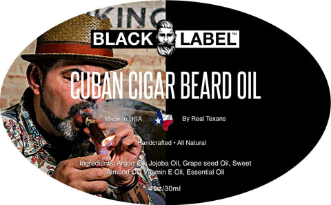 Image of Cuban Cigar Beard Oil, Best Beard Conditioner & Beard Softener - Blacklabel Beard Company