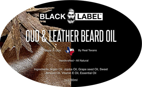 Oud & Leather Beard Oil, Best Beard Conditioner & Beard Softener - Blacklabel Beard Company