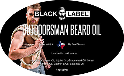 Image of Outdoorsman Beard Oil, Best Beard Conditioner and Beard Softener - Blacklabel Beard Company