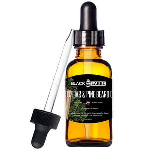 Red Cedar & Pine Beard Oil, Best Beard Conditioner & Beard Softener - Blacklabel Beard Company