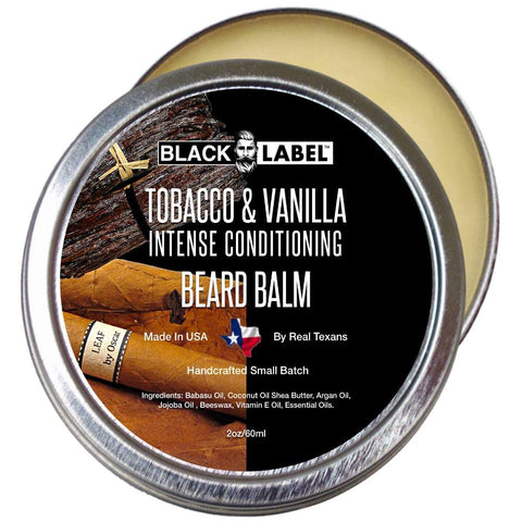 Tobacco & Vanilla Beard Balm, Best Beard Conditioner & Styling Pomade - Blacklabel Beard Company