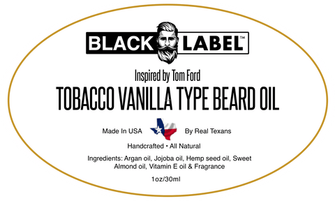 Image of Tom Ford Tobacco Vanilla | Cologne Type Beard Oil - Blacklabel Beard Company