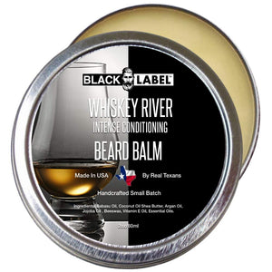 Whiskey River Beard Balm, Best Beard Conditioner & Styling Pomade - Blacklabel Beard Company