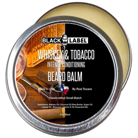Whiskey & Tobacco Beard Balm, Best Beard Conditioner & Styling Pomade - Blacklabel Beard Company
