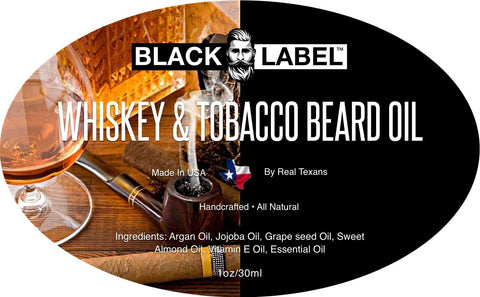 Image of Whiskey & Tobacco Beard Oil, Best Beard Conditioner & Beard Softener - Blacklabel Beard Company
