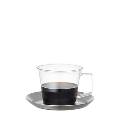 CAST Coffee Cup & Saucer stainless steel