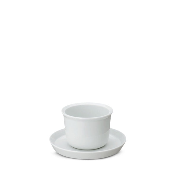 Leaves to tea cup and saucer white