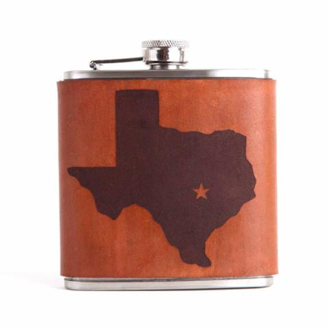 Leather Hip Flask | Texas Silhouette