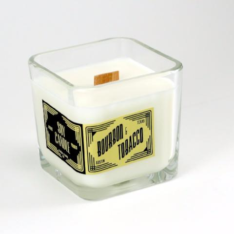 Double Wick Soy Candle | Bourbon & Tobacco