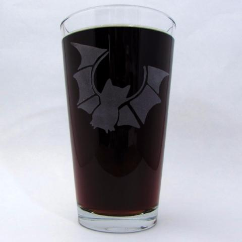 Etched Pint Glass | Congress Bat
