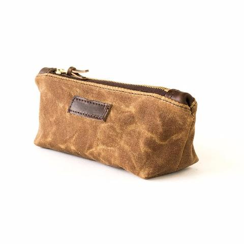 Multi-Purpose Clutch | Brown Waxed Canvas