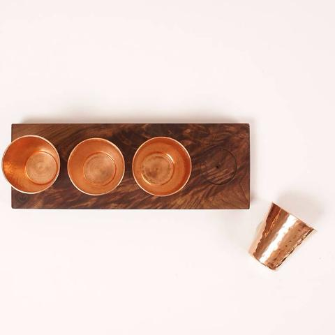 Copper Flight Board | Hand-Forged & Hand-Carved