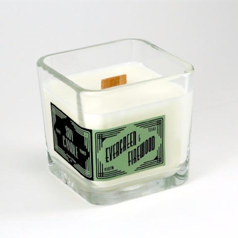 Double Wick Soy Candle | Evergreen & Firewood
