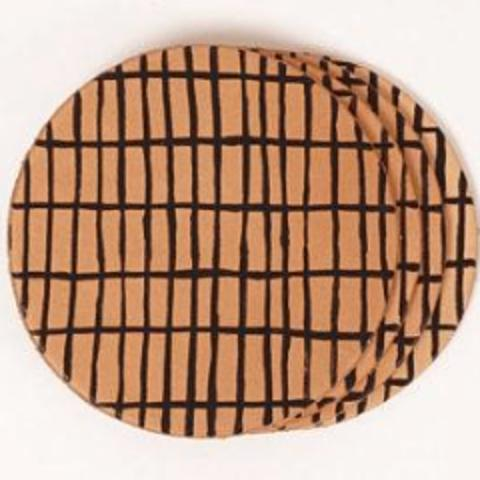 Jig Leather Coasters | Grid Pattern (Set of 4)