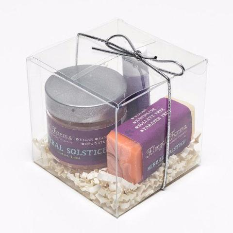 Sampler Gift Set | Herbal Solstice (Scrub, Soap & Lip Balm)