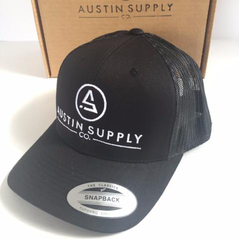 Mesh-Back Trucker Hat | Austin Supply Co. (Blue or Black)