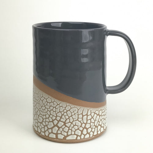 Coffee Mug | Gray | Crackle Glaze Stoneware