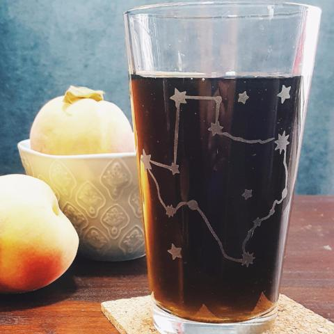 Etched Pint Glass | Texas Constellation