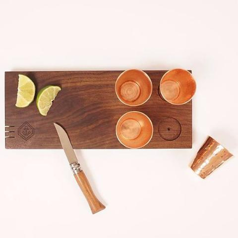 Copper Shot Board | Hand-Forged & Hand-Carved