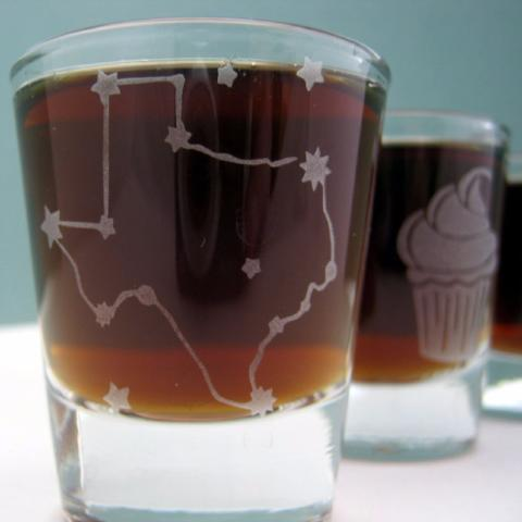 Etched Shot Glass | Texas Constellation