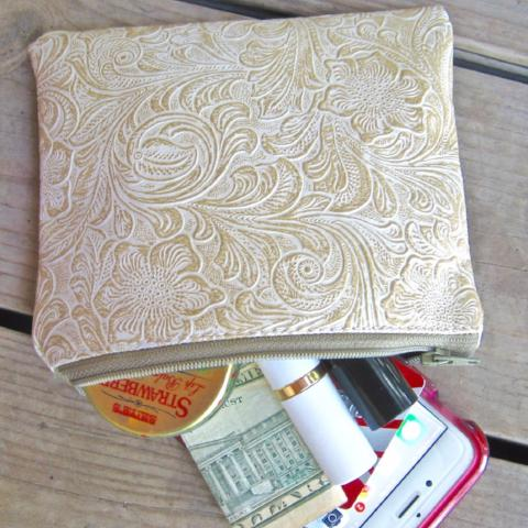 Zip Pouch | Small | Antique White