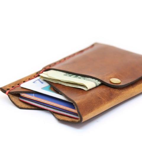 Slim Leather Wallet | The Big Spender