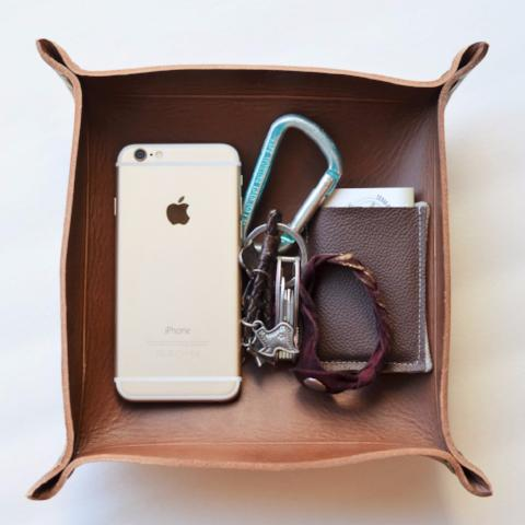 "Handmade Leather Tray | The ""Catch All"""