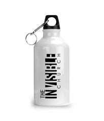 Aluminium Sports Water Bottle sunrise invisible To Follow Him fishfoot logo