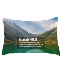 Lumbar Cushion :: Isaiah 40:8
