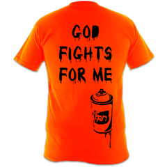 God fights for me : Super soft heavy tee