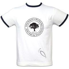Every branch in me that does not bear fruit : Men's fitted ringer T-Shirt