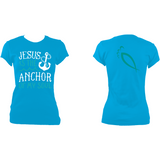 Jesus is the anchor of my soul :: Women's fitted T-Shirt