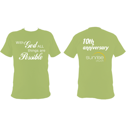 Sunrise Church 10th Anniversary T-Shirt